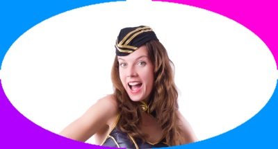 Crazy stewardess